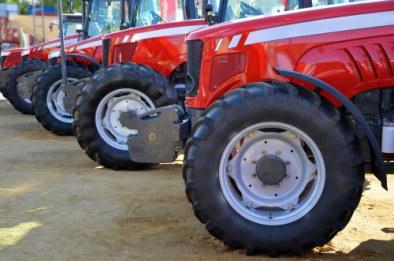 Farm tractors at exhibition