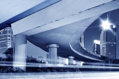 Underpass of highway