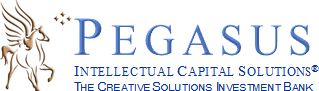 Logo, Pegasus Intellectual Capital Solutions, a boutique investment bank