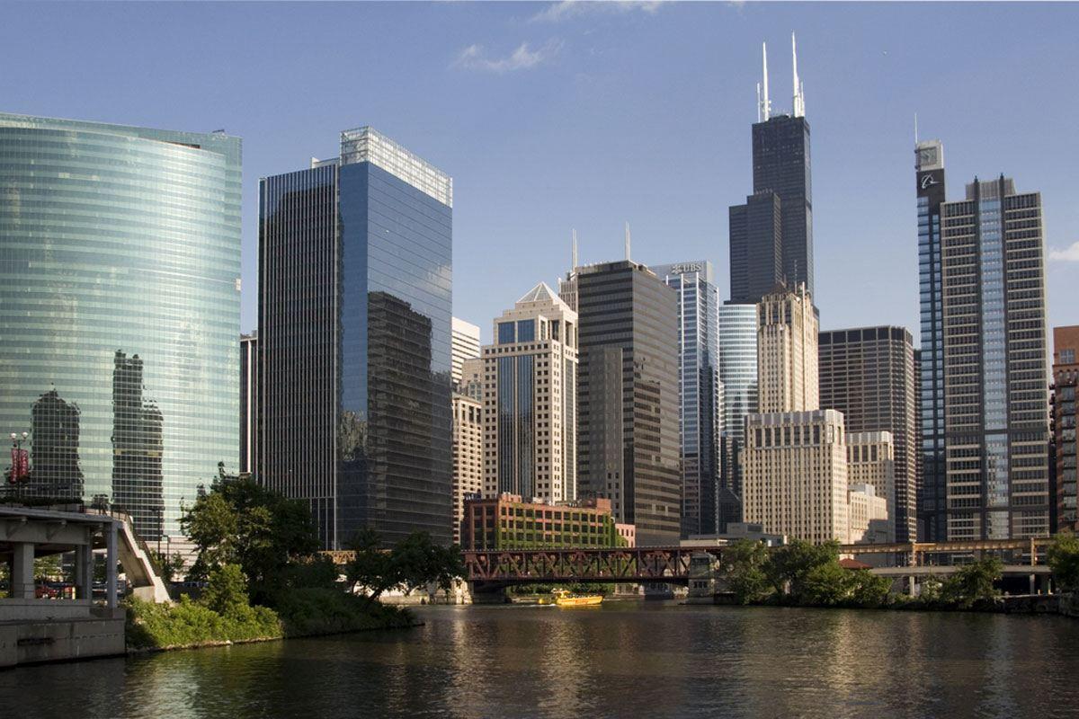 Hyatt Building from the Chicago River