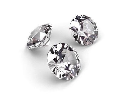 Diamonds on White metaphor for wealth
