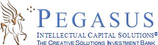 Logo, Pegasus Intellectual Capital Solutions, a boutique investment bank
